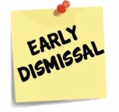 Early Dismissal Wednesday!